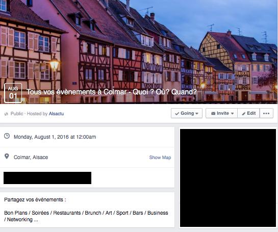 Evènement Facebook - Colmar